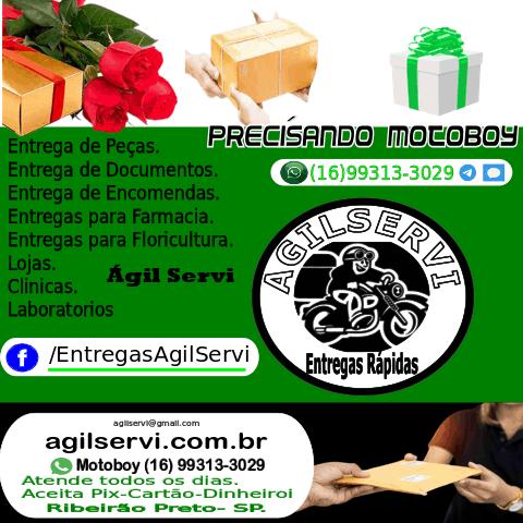 A Agilservi Entregas Rápidasatende com a finalidade de agilizar e facilitar os serviços de entregas com motoboy em Ribeirão Preto e Região.